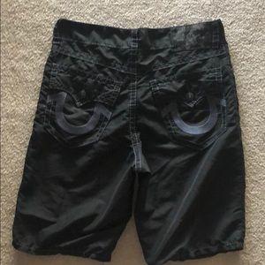True Religion Surf Swimwear SZ 36 BLACK